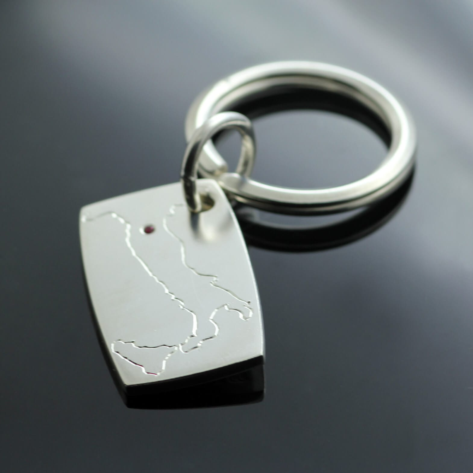 Handmade Silver keyring unique bespoke gifts by Julian Stephens
