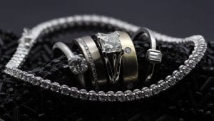 A tasty cluster of delicious Diamond rings handmade by Julian Stephens