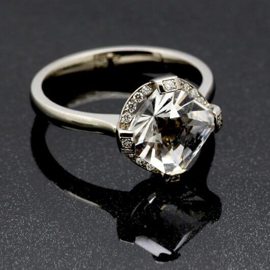White Gold Gatsby engagement ring by Julian Stephens