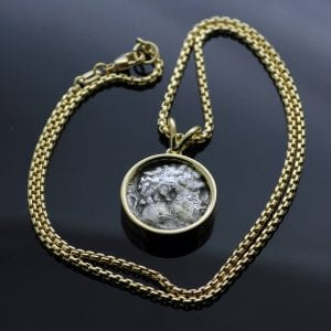 Bespoke Antique Bekah coin handmade Yellow Gold necklace