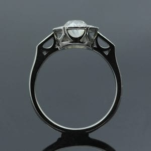 Contemporary Platinum and Old Cut Diamond engagement ring by Julian Stephens