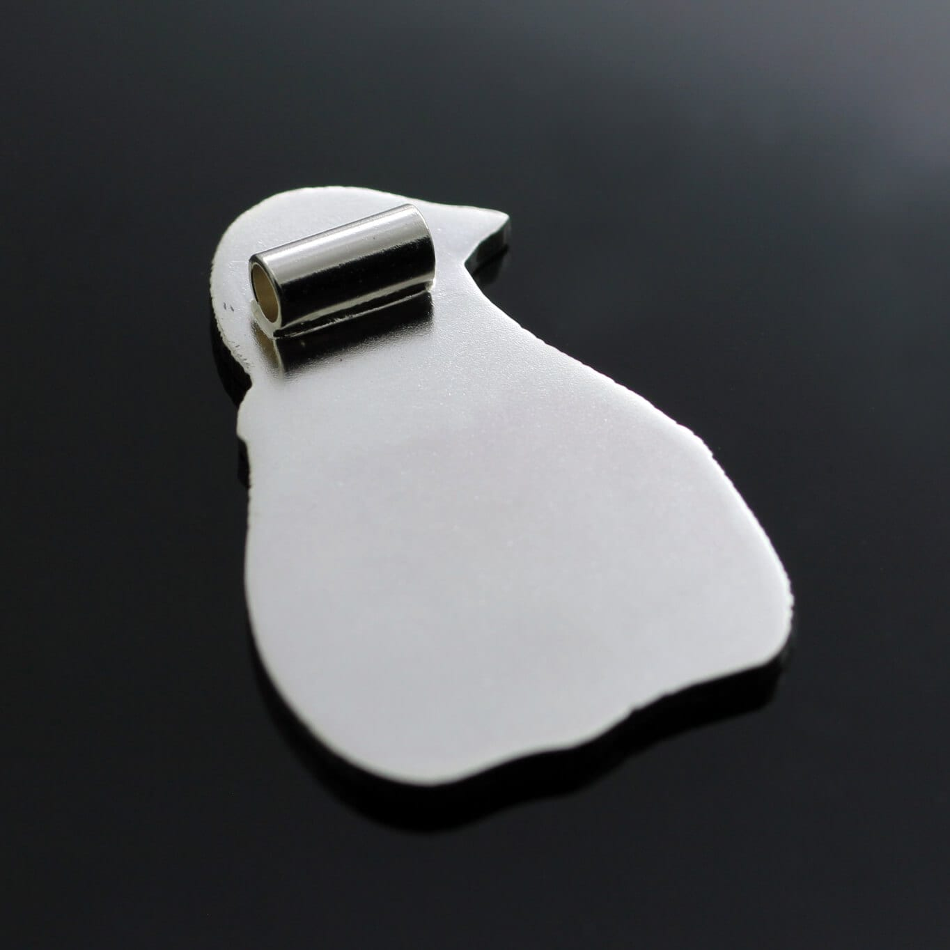Unique Silver engraved penguin pendant