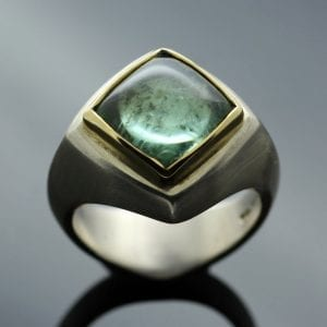 Green Tourmaline ring from The Abbey Collection by Julian Stephens
