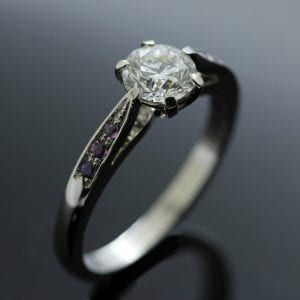 Bespoke Diamond and Pink Sapphire engagement ring by Julian Stephens