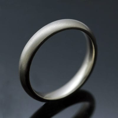 Hand finished Court wedding band ladies 2mm ring White Gold Yellow Gold Platinum Palladium