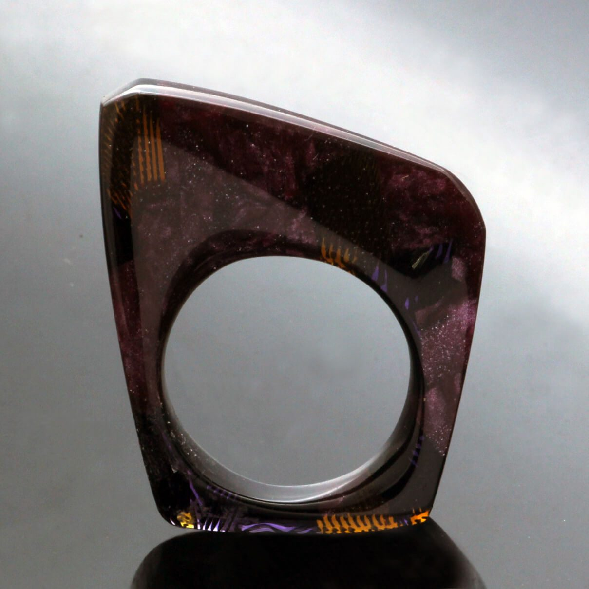 unique perspex statement ring handmade perspex