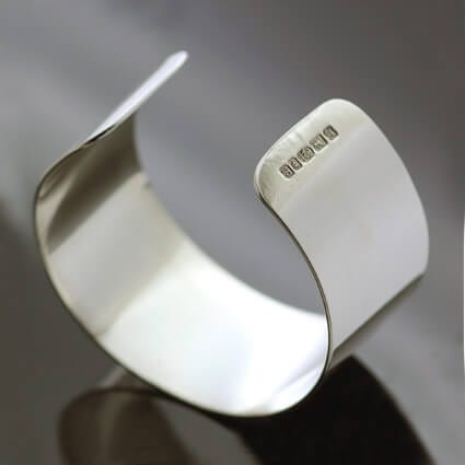 Sterling Silver contemporary cuff bracelet polished finish