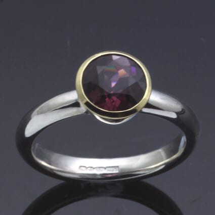 birthstone jewellery january garnet ring handmade