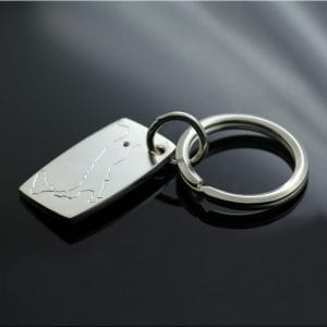 Bespoke silver keyring unique handmade gifts by Julian Stephens