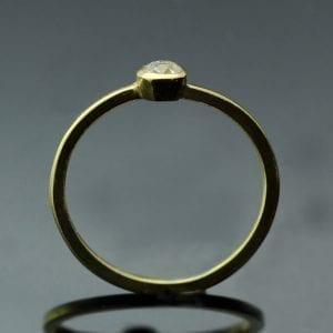 Modern Yellow Gold engagement ring with Old Cut Diamond by Julian Stephens