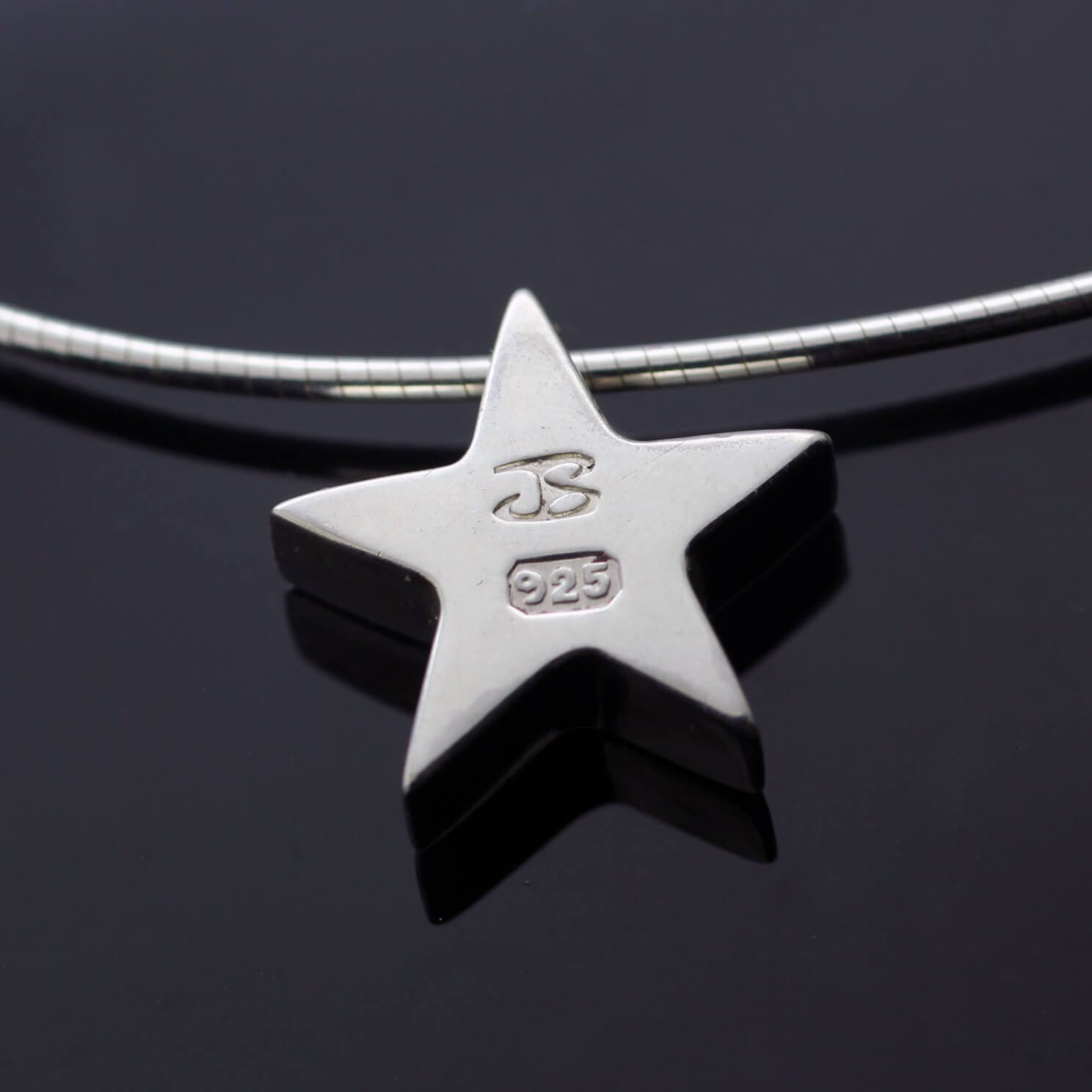 Handmade solid Silver Star contemporary charm