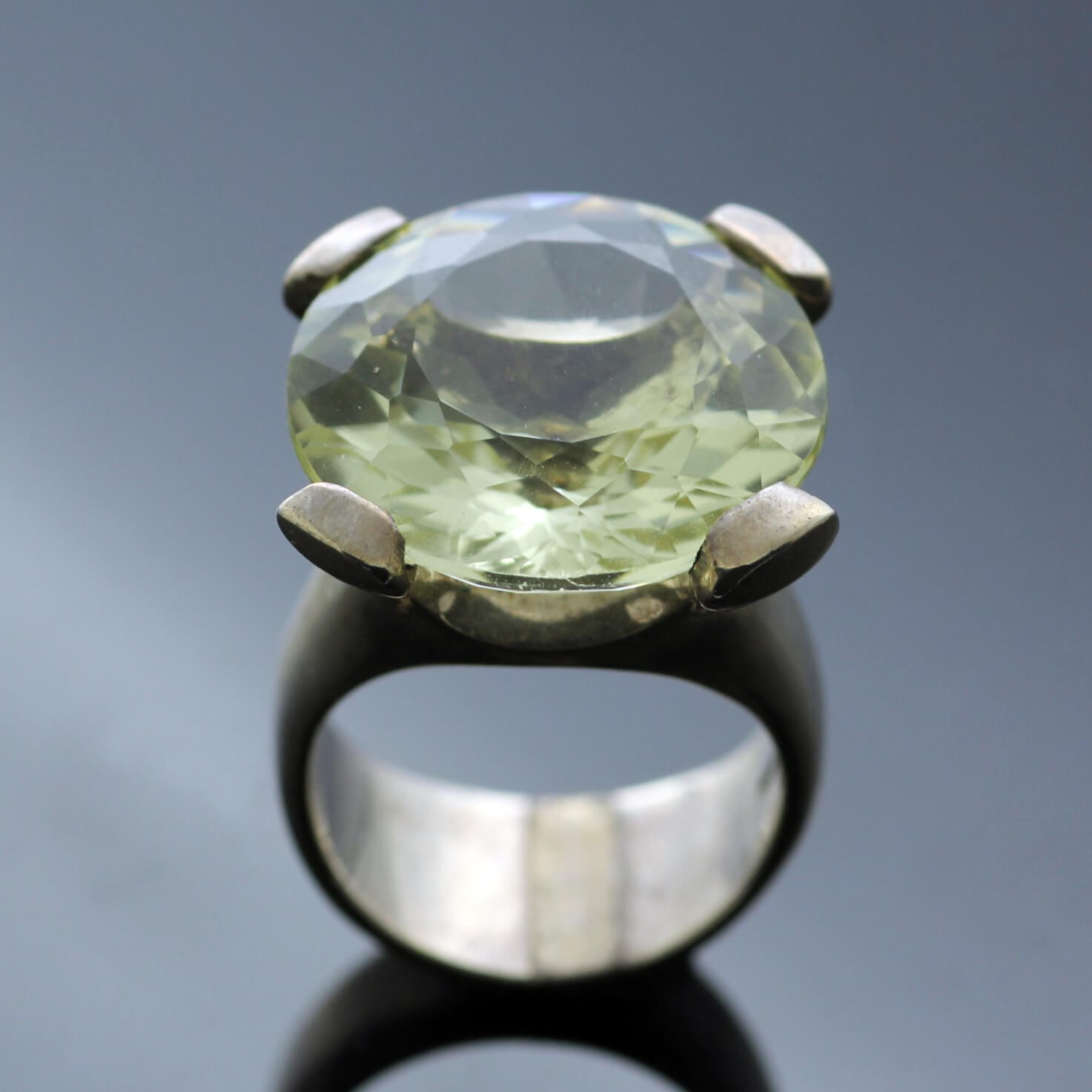 Sterling Silver Lemon Quartz cocktail ring