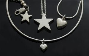 Beautiful Silver gift ideas from our Stars & Hearts Collection