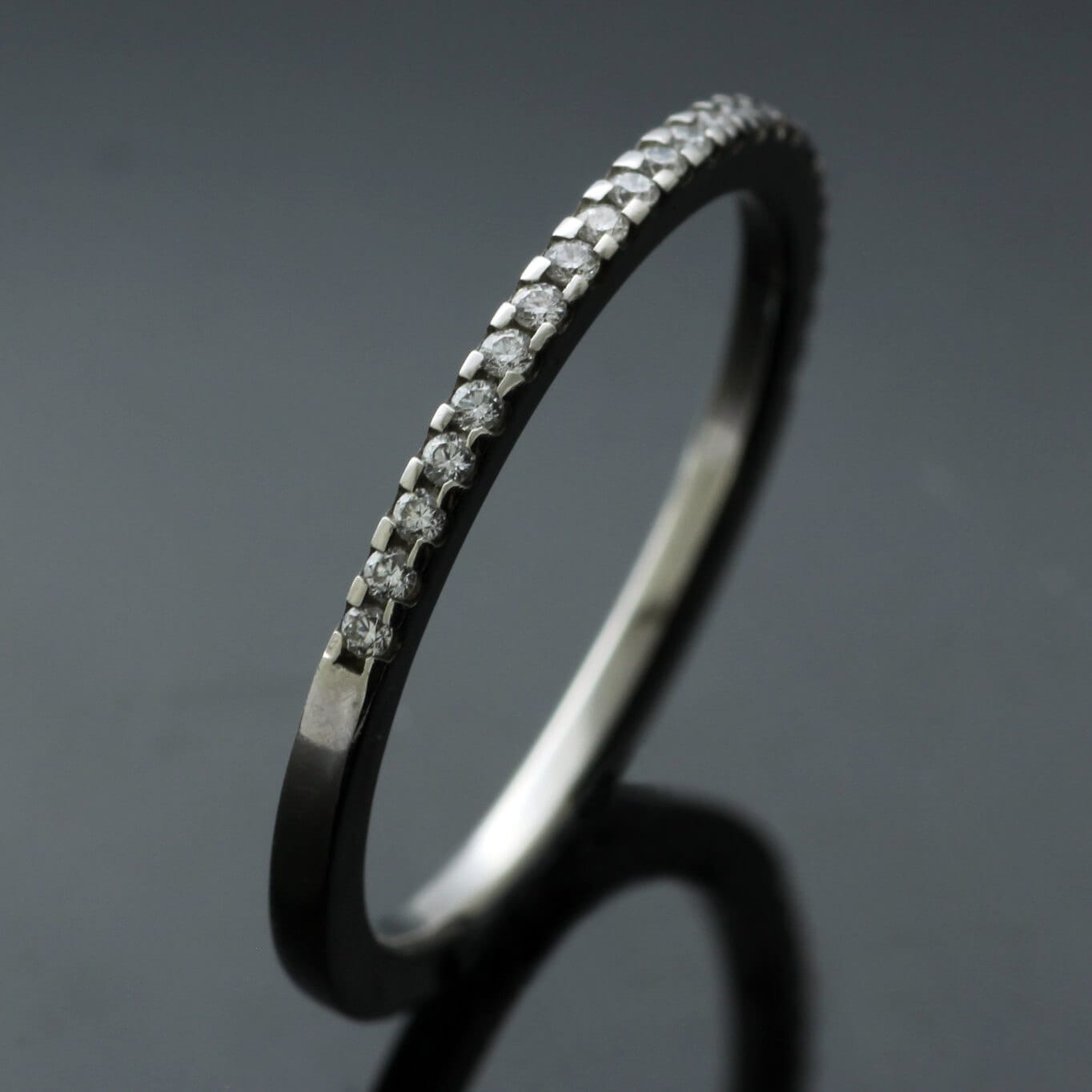 Handcrafted Diamond Platinum modern Eternity band