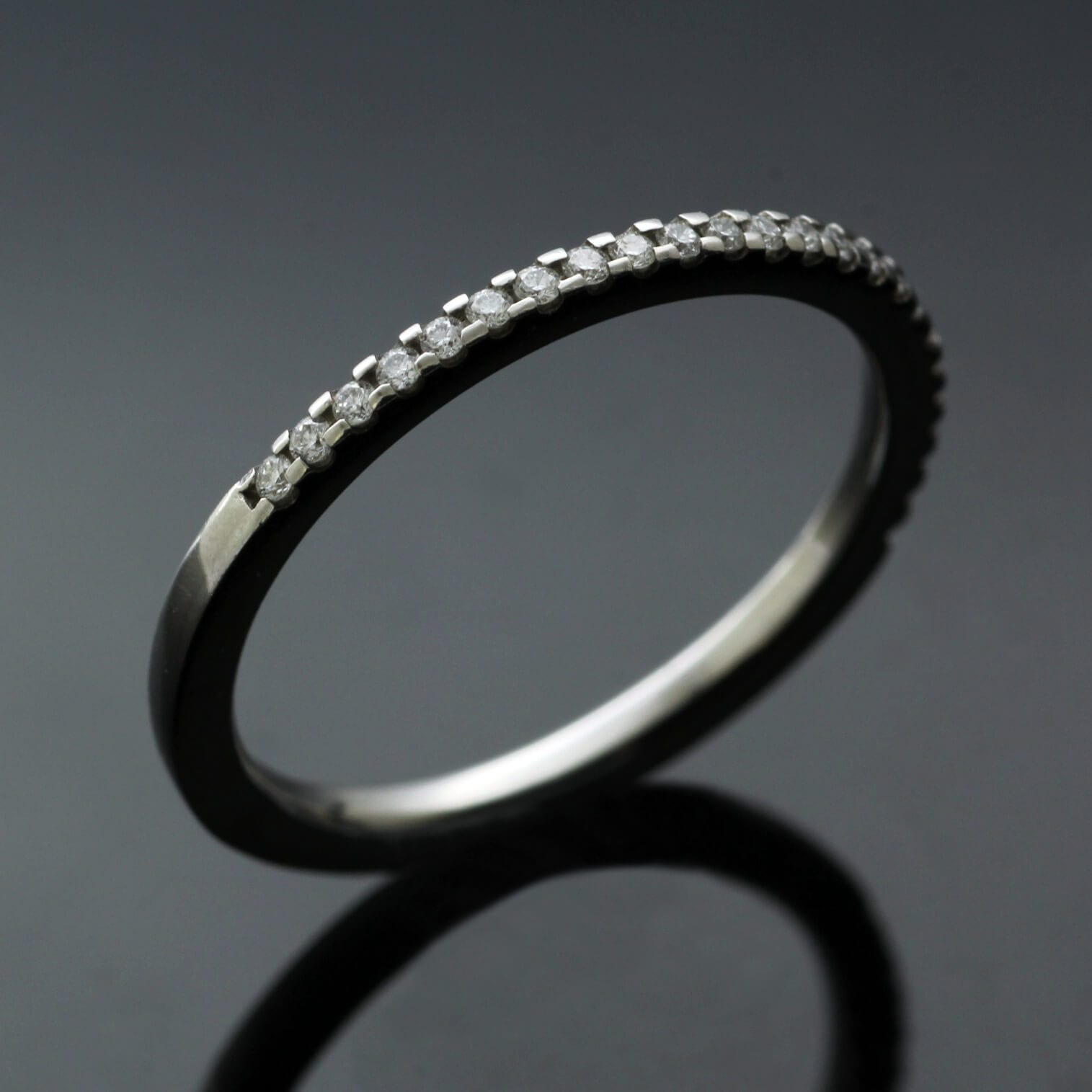 Half ET handmade eternity band Diamond Platinum band