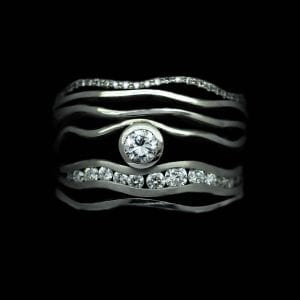 Stunning modern stacking rings handcrafted by Julian Stephens
