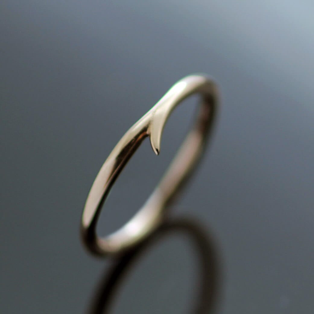 Handmade Rose Gold stacking ring minimal design