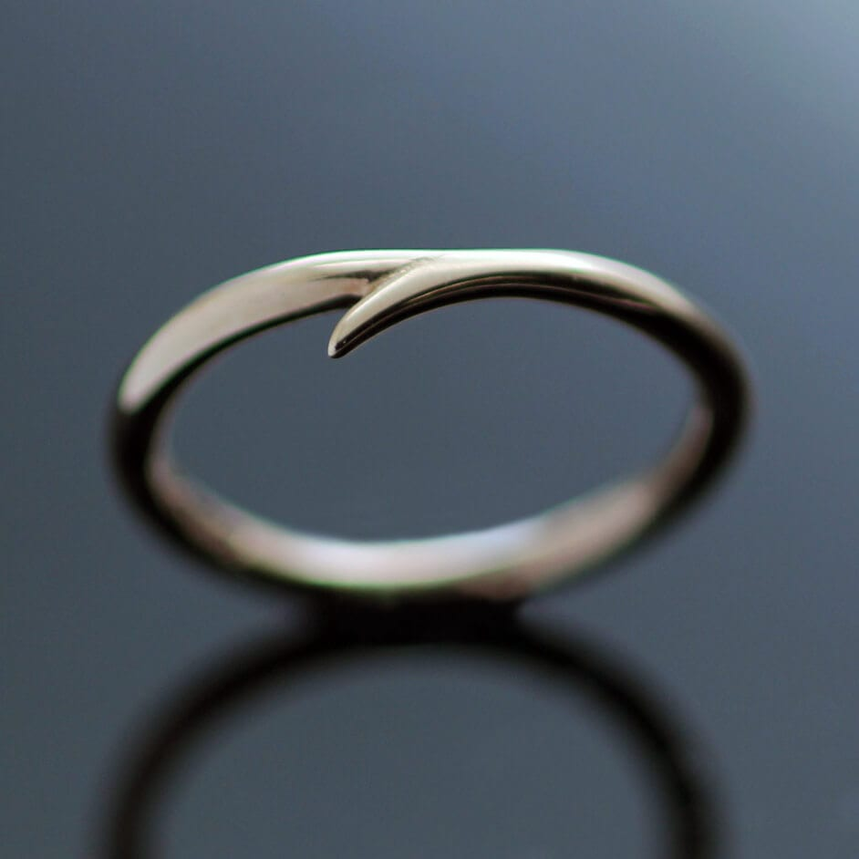 Handcrafted unique modern rose gold stacking ring