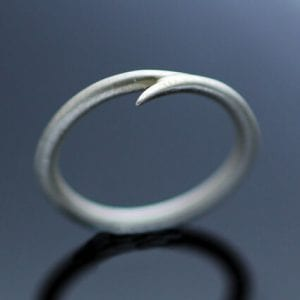 Modern minimal silver handmade stacking ring unique
