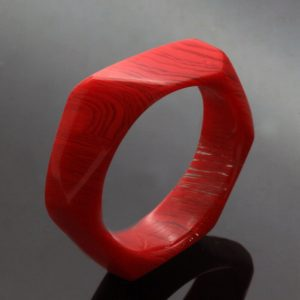 Handmade unique perspex upcycled colourful ring