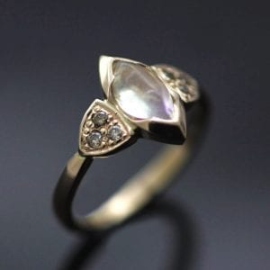 Unique, beautiful bespoke engagement rings, handcrafted by Julian Stephens Goldsmith
