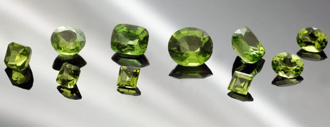 Peridot gemstone August Birthstone modern Jewellery