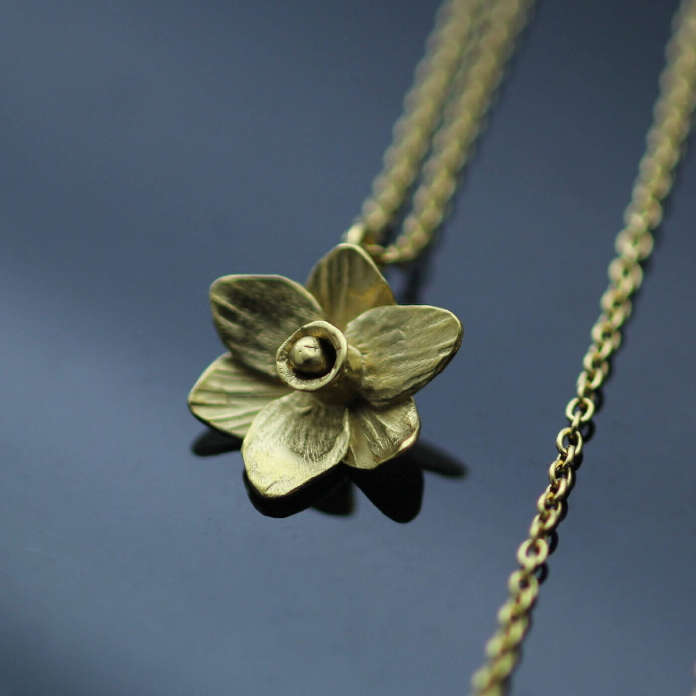 Handmade unique Daffodil necklace modern style