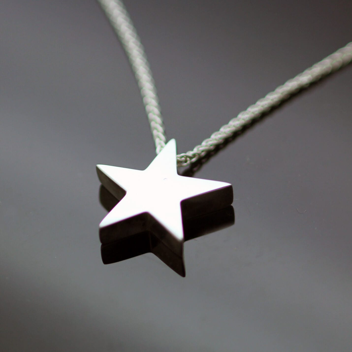 Modern Sterling Silver Star necklace handcrafted