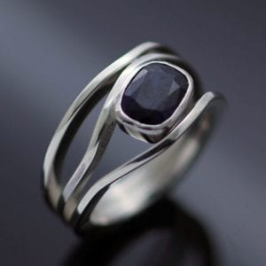 Sapphire Sterling Silver cocktail ring