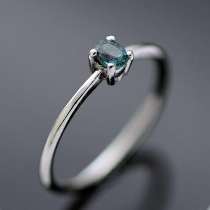 Alexandrite unique gemstone engagement ring