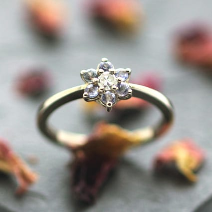 Handmade precious engagement ring designs modern unique