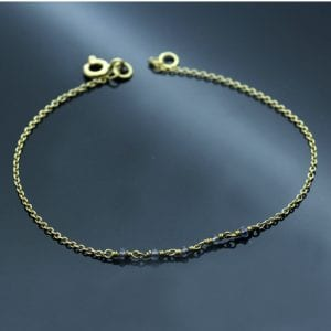 Lolite gemstone 18ct Yellow Gold handmade bracelet