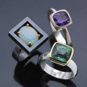 modern handmade rings brighton jeweller